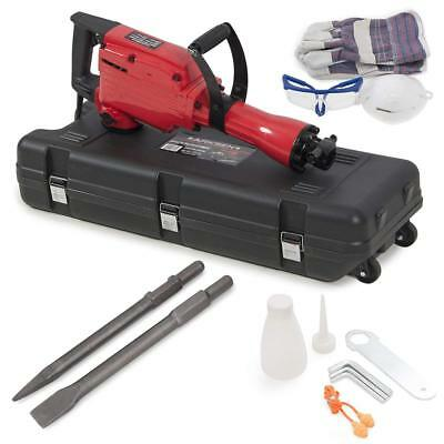 ARKSEN 2200W Electric Demolition Jack Hammer Concrete Breaker Punch & Chisel Kit