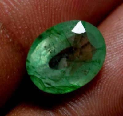 3.10Ct Natural Green Emerald Loose Gemstone Colombia GGL Certified UNTREATED