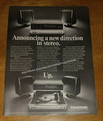Vintage Panasonic Announcing a new direction in Stereo Up 1970 Ad model SE 970