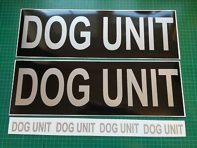 DOG UNIT REFLECTIVE Magnet K9 Handler Car Door Magnets Search & Rescue 460mm x 2