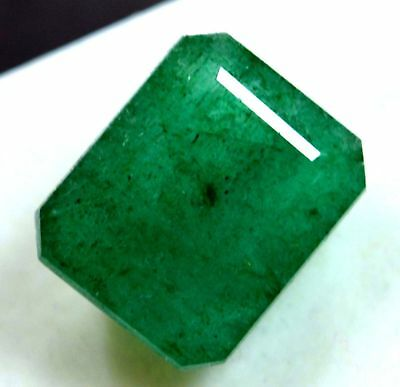 11.00 Ct Natural Green Emerald Loose Gemstone Zambian GGL Certified UNTREATED