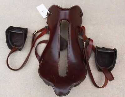 1880's Whitman Saddle without Horn New Leather on Seat with Whitman Brass Data
