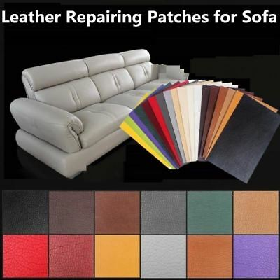 10x20cm Self Stick No Ironing Sofa Repairing Leather PU Fabric Stickers Patches