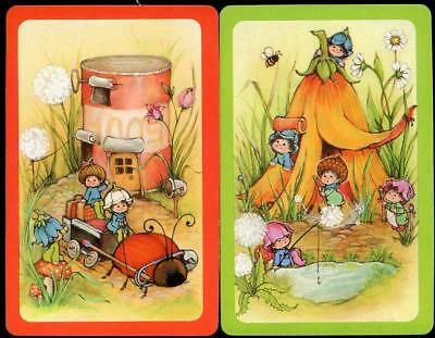 Beautiful Vintage Pixie Swap Cards Pair In Brand New Condition