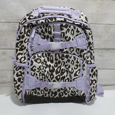 Pottery Barn Kids mackenzie Large Backpack girls Chocolate & lavender CHEETAH