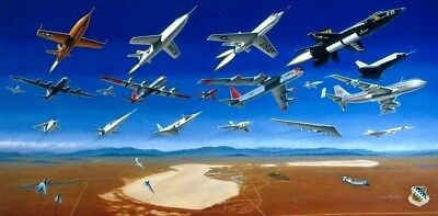Golden Age of Flight Test [X-Planes EFAB] ARTIST PROOF PRINT Signed Mike Machat