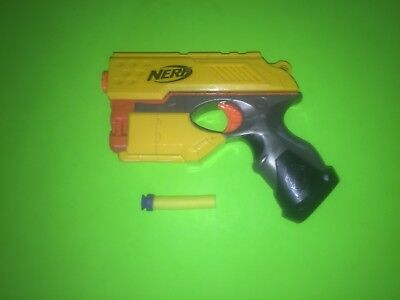 NERF N-Strike Scout IX-3 Dart Gun Blaster TESTED w DART Single Shot Yellow 9 Lot