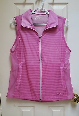 Nike Golf Womens Dri-fit Light Pink/Purple Wind Vest Size Large