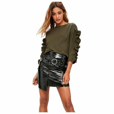 Women Blouse Casual Solid Ruched Hot Sale Spring Autumn Long Sleeve Loose O T1T8
