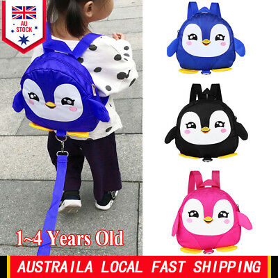 Baby Kids Cartoon Backpack Anti-lost Toddler Walking Safety Harness Strap Oxford