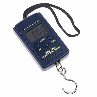 40Kg - 10g Digital Fishing Hanging Luggage Weighing Hook Pocket Scale W5U4
