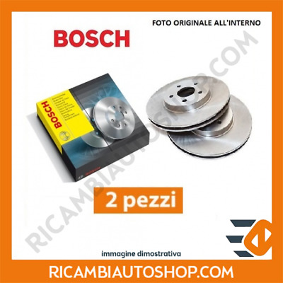 2 Dischi Freno Anteriore Bosch Smart City-Coupe 0.8 Cdi Kw:30 1999>2004 09864784