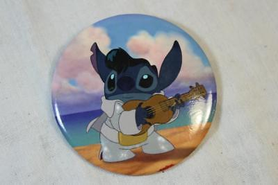 Stitch Dress Up Elvis With Guitar Beach 3 Inch Button Pin Lilo And Stitch