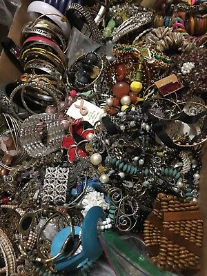 Vintage Now Estate Jewelry Junk Drawer Lot Unsearched Untested Wearable 22pound