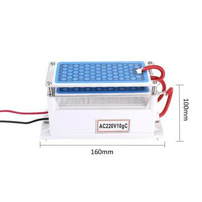 Portable 10g/h Ozone Generator Double Integrated Plate Water Air Purifier E4I9