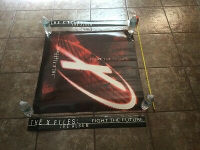 """X-Files Fight The Future Soundtrack Giant CD poster Display 36"""" x 36"""""""
