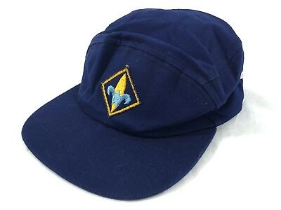Vintage 1960's Official Boy Scout embroidered Cap Hat #A40
