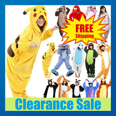 Adult Fleece Unisex Kigurumi Animal Bodysuit Pajamas Cosplay Costume Sleepwear