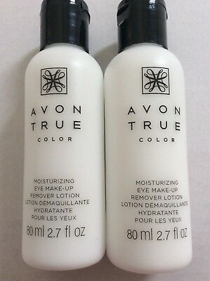 *Lot of 2* AVON TRUE COLOR MOISTURE EFFECTIVE EYE MAKEUP REMOVER LOTION USA
