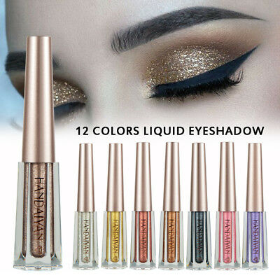 Diamond Liquid Eyeliner Pencil Metallic Glitter Makeup Shimmer Smoky Eyeshadow