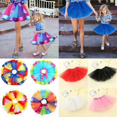 AU Mother Girl Women Kids Tutu Skirt Princess Mini Dress Party Ballet Dancewear