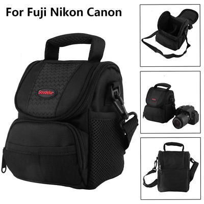 New Style Black Shockproof DSLR Case Outdoor Travelling Camera Shoulder Bag AL