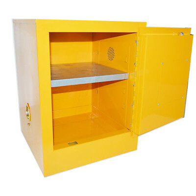 Flammable Safety Cabinet 4 Gal Yellow Security cabinet Shelving Storage Bins New