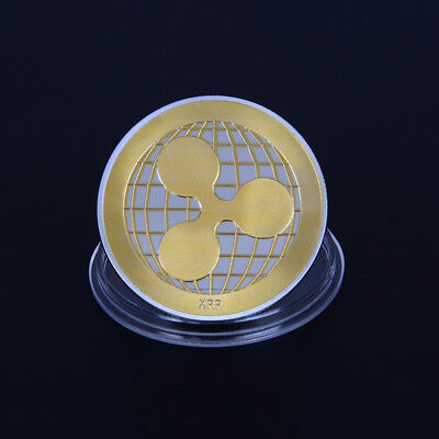 gold silver plated ripple coin crypto commemorative ripple collectors coin gif F