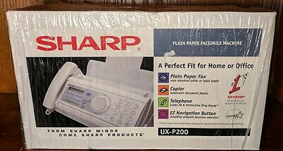 New Sharp Fax Plain Paper Facsimile Machine Copier Phone EZ Navigation UX-P200