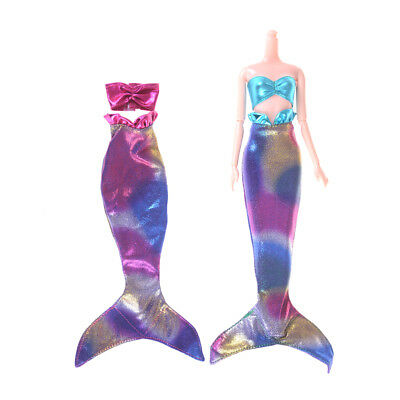 Handmade Mermaid Tail Dress Fairytale Clothes For Barbie Doll Girls Toy Gift FR