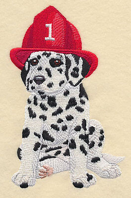 """Dalmatian Dog Firefighter, Embroidered Patch 4.4""""x6.8"""""""