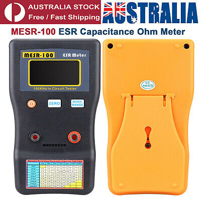 MESR-100 ESR Capacitance Ohm Meter Capacitor Circuit Tester with Test Clips
