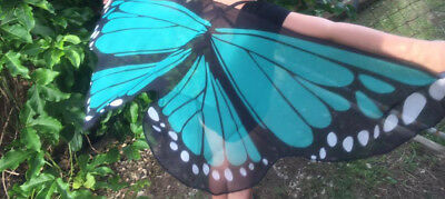 AUST Turquoise Butterfly Wings Costume Dressup KIDS CHILD New cosplay Soft NEW