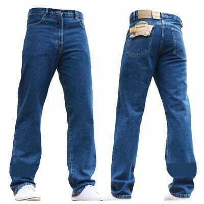 "Bnwt Mens New Blue-C Blue Jeans Work Farmers Mechanics Casual Wear Sizes 28""-60"""