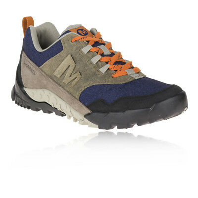 Merrell Mens Annex Recruit Shoes Blue Brown Sports Outdoors Waterproof Trainers