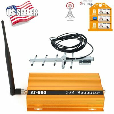 900HZ CDMA Cell Phone Signal 3G 4G Repeater Booster Amplifier Extender+Yagi kit