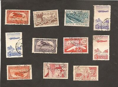 Good AIRMAIL LOt and Definitives MOROCCO Maroc - French Colonies Stamps