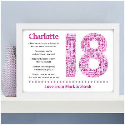 Personalised 18th 16th 21st 30th Birthday Gifts For Her Girls Daughter Sister