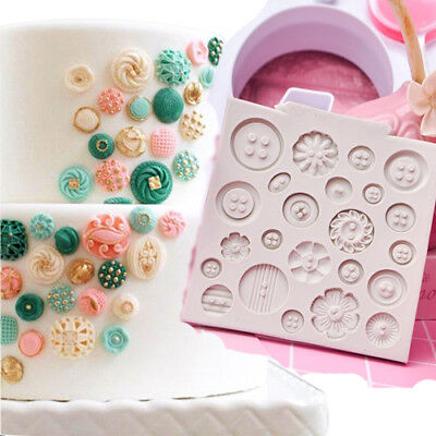 Silicone Flower Button Fondant Chocolate Mould Cake Decor Icing Sugar Paste Mold