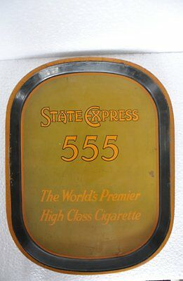 Vintage State Express 555 Cigarettes Ad Litho Tin Tray , Collectible