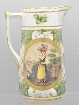 Mint And Perfect Antique MEANDER BV Porcelain Double Cameo Jug