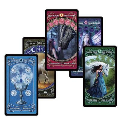 Fantasy Tarot Deck Waite Rider 78 Cards English Spanish French German Oracle