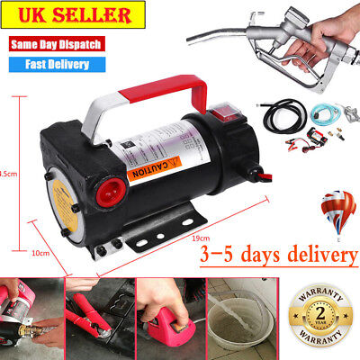 Portable 12V Diesel Fluid Extractor Electric Transfer Pump Car Fuel Speed 150W