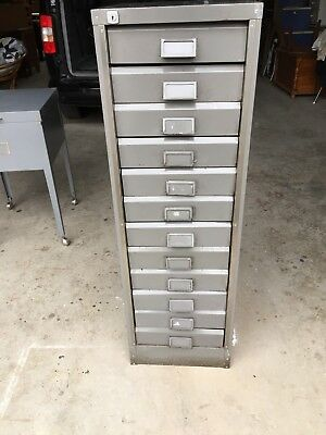 Industrial Vintage Steel  Office Cabinet With12 Drawers - Buy Now