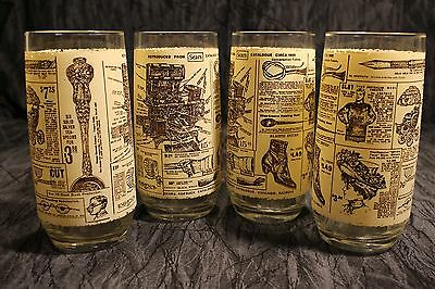 4 Vintage Sears Roebuck Tumbler Drinking Glasses Reproduced From 1908 Catalogue