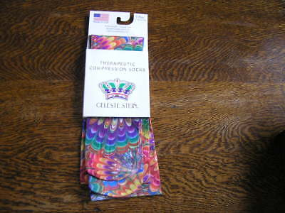 Celeste Stein Therapeutic Compression Socks PATTERN MULTI-COLOR 15-20 mm 1 Pair