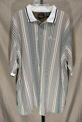 The Orleans Casino Las Vegas Men's XXL 2X Tan Striped Polo Shirt Greg Norman