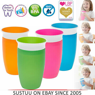 1Pcs 360 Degree Trainer Cup Toddler Training Sippy Anti Spill Chew Proof Miracle