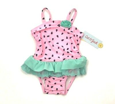Cat & Jack Baby Girl  One Piece Swimming Suit Size 18 Months UPF 50+ NWT