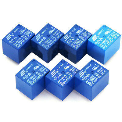 3V/5V/6V/9V/12V/24V/48V 10A Mini Songle SPDT PCB Relay 5 Pin T73 DC SRD-DC-SL-C
